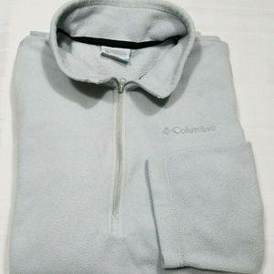 COLUMBIA Mens Pullover Blue Half Zip Sweatshirt -M